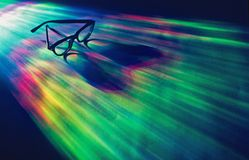 Spectacles in spectrum of colors Stock Image