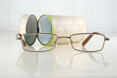 Spectacles and tube Royalty Free Stock Image