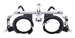 Isolated Eyesight Testing Spectacles. Spectacles used for eyesight tests isolated on white background Royalty Free Stock Photography