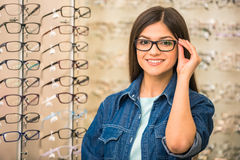 Spectactacles store Stock Photography