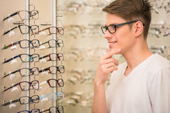 Spectactacles store Royalty Free Stock Photos