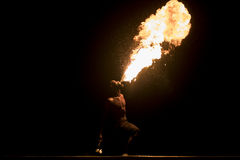 Spectaculair firebreather Royalty Free Stock Photos