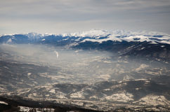 Spectaculair Landschap in de Bergen van de Karpaten royalty-vrije stock fotografie