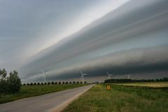 A Spectaculair Shelfcloud in The Netherlands royalty free stock photo