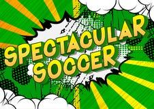 Spectaculair Voetbal - de Grappige woorden van de boekstijl royalty-vrije illustratie