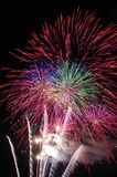 Spectaculair vuurwerk Stock Foto
