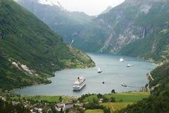 Spectaculaire fjord Gerjanger Royalty-vrije Stock Afbeelding