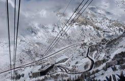 Spectaculaire mening aan de Bergen van Snowbird skitoevlucht in Utah Stock Afbeeldingen