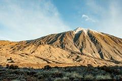 Spectaculaire mening aan Pico del Teide in Tenerife royalty-vrije stock foto