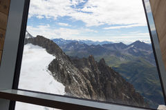 Spectaculaire mening om Blanc-massief van 360 graadobservati op te zetten Royalty-vrije Stock Afbeeldingen