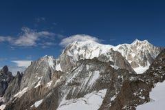 Spectaculaire mening om Blanc-massief van 360 graadobservati op te zetten Royalty-vrije Stock Foto's