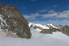 Spectaculaire mening om Blanc-massief van 360 graadobservati op te zetten Stock Foto's