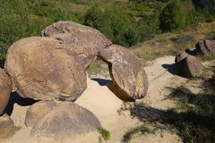 Spectaculaire steenvormingen van Ulmet, Roemenië Royalty-vrije Stock Foto's