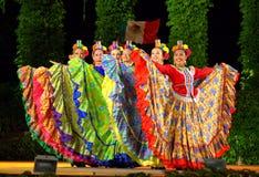 Spectaculaire vrouwelijke dansers met glazen Royalty-vrije Stock Foto