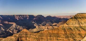 Spectaculaire zonsondergang bij Grote canion Stock Fotografie