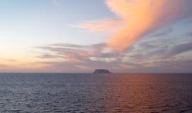 Spectaculaire zonsondergang op Mar DE Cortes Royalty-vrije Stock Fotografie