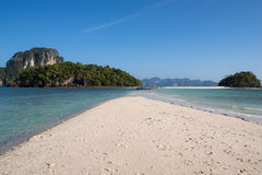 Spectacular приставает море к берегу atmThale отделенное Waek, Таиланд Стоковое Изображение RF