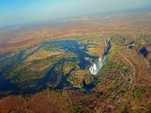 Aerial View Of Victoria Falls Stock Images