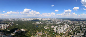 Spectacular aerial view (340 m) of Moscow, Russia Stock Photo