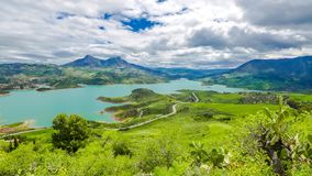 Lake Zahara in Spain royalty free stock photos