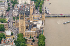 Spectacular aerial view of London, UK Stock Photo