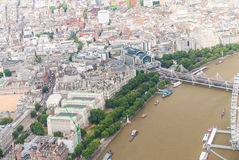 Spectacular aerial view of London, UK Stock Image