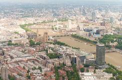 Spectacular aerial view of London, UK Stock Photography