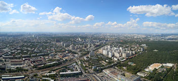 Spectacular aerial view (340 m) of Moscow, Russia Royalty Free Stock Photos
