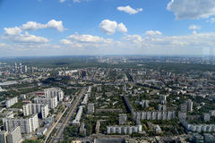 Spectacular aerial view (340 м) of Moscow, Russia. Stock Image