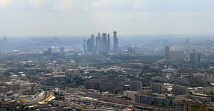 Spectacular aerial view (340 м) of Moscow, Russia. Stock Images