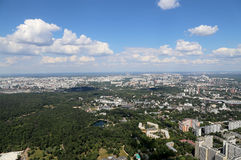 Spectacular aerial view (340 м) of Moscow, Russia. Stock Photography