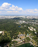 Spectacular aerial view (340 м) of Moscow, Russia. Stock Photos
