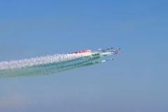 Spectacular air show in Italy Royalty Free Stock Photography