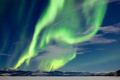 Spectacular Aurora borealis Northern Lights Stock Image
