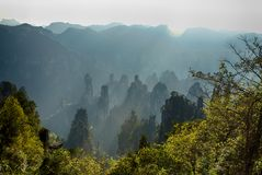 The spectacular Avatar Hallelujah mountain Stock Photography