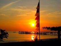 Spectacular Bali Sunrise over the ocean Royalty Free Stock Images