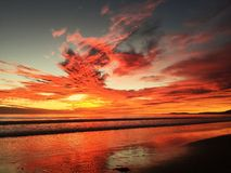 Spectacular Beach Sunset Royalty Free Stock Photography