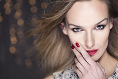 Spectacular beauty at a glamour party Royalty Free Stock Photography