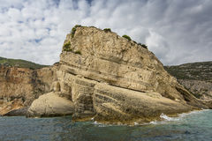 Spectacular Blue caves on Zakynthos island in Greece. Nature. Royalty Free Stock Images