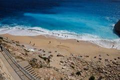 Spectacular blues of the Aegean Sea Stock Photo