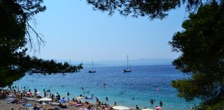 Spectacular Bol, Island of Brac, Croatia Royalty Free Stock Photography