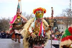 Spectacular Bulgarian kukeri Royalty Free Stock Images