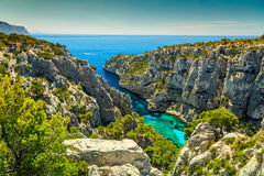 Spectacular Calanques D`En Vau in Cassis near Marseille, France Stock Image