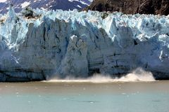 Spectacular calving glacier Royalty Free Stock Photo