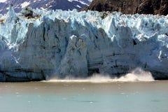 Spectacular calving glacier royalty free stock photo