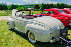 Spectacular car show in the Country Heritage Park, amazing rear side view of classic vintage cars. Milton, Ontario, Canada, June 18, 2016, amazing beautiful Royalty Free Stock Photography