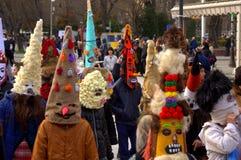 Spectacular carnival procession children masks Stock Image