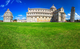 Spectacular cathedral and leaning tower of Pisa, Italy, Europe Stock Images