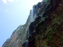 The spectacular Christmas Tree Waterfall in Sumidero Canyon royalty free stock images