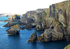 Spectacular Cliffs. The Spectacular Cliffs at Mizen Head Stock Image